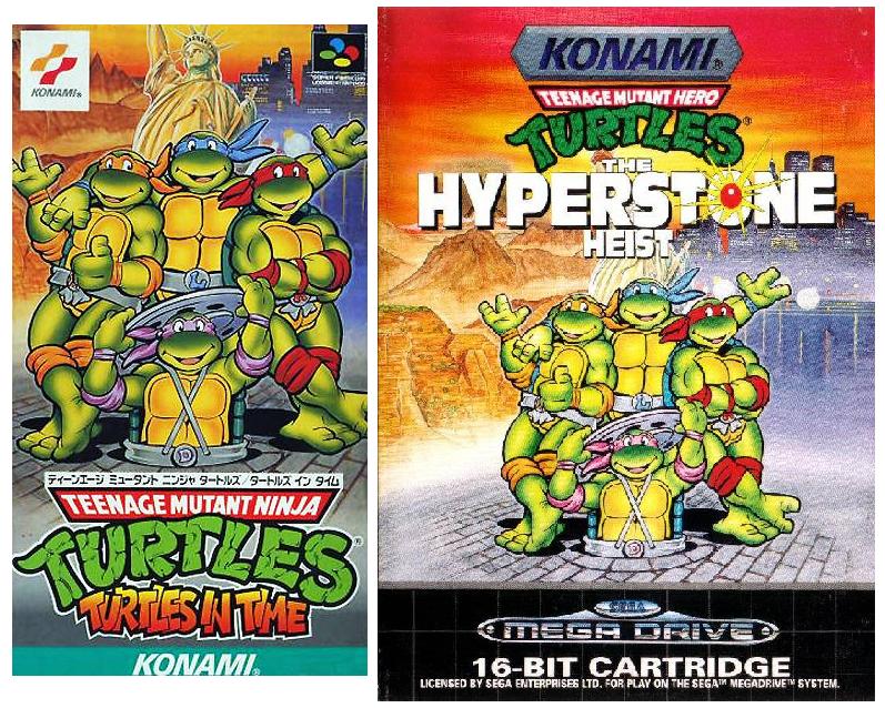 Tortugas Ninja SNES y Mega Drive