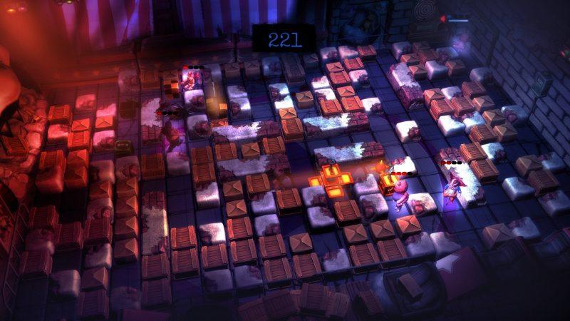 Basement Crawl recuerda a Bomberman en su planteamiento jugable y cuenta con apartado arístico extraordinario.