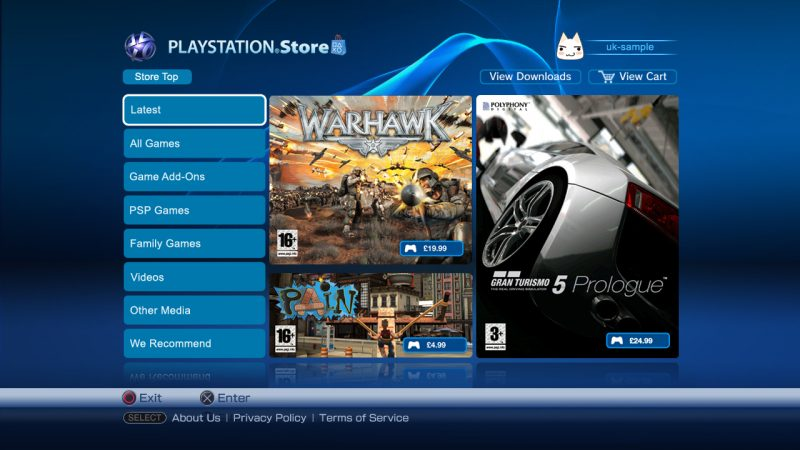 La tienda digital de Sony será una de las afectadas por el servicio de mantenimiento.