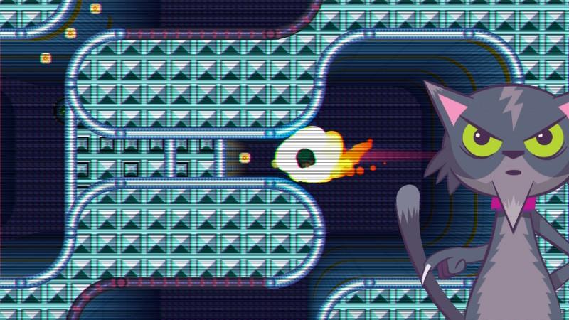 Mientras jugamos en el GamePad, en la pantalla del televisor veremos la acción desde otra perspectiva, con rótulos y filtros como este