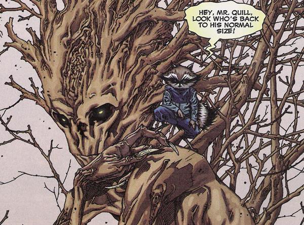 Groot y Rocket Raccoon, amigos para siempre