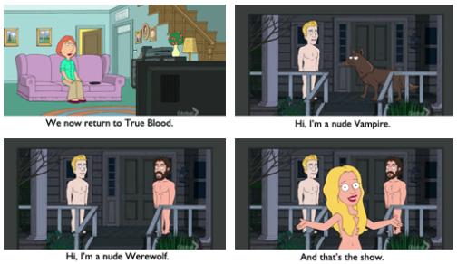 Seth Macfarlane refleja muy bien en lo que se había convertido la serie en esta parodia