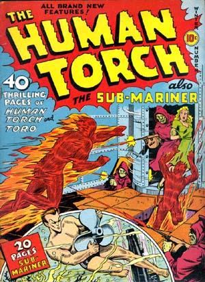 Human Torch y Namor (Sub-Mariner)