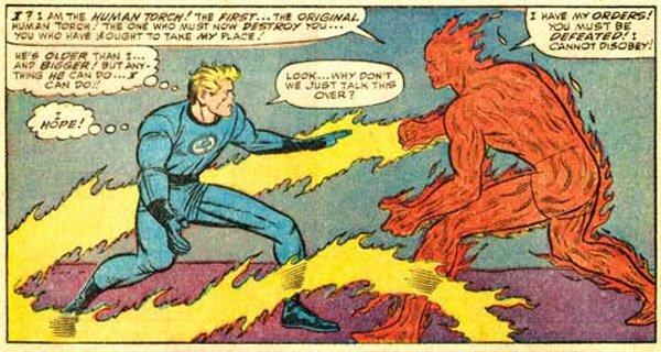 Duelo entre los dos Human Torch