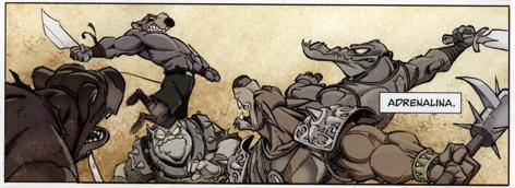 Solo acostumbra a derrotar a grupos enteros de enemigos sin despeinarse.