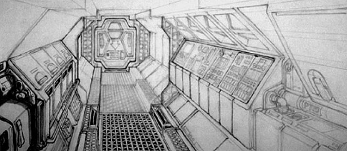 Uno de los muchos bocetos de Giger que sirvieron de inspiración en Alien Isolation