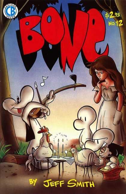 Portada del número doce de Bone (edición de Cartoon Books).