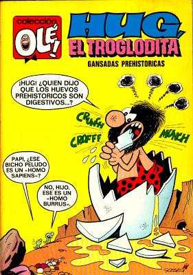 Portada de Gansadas Prehistóricas, correspondiente al número 32 de Olé.