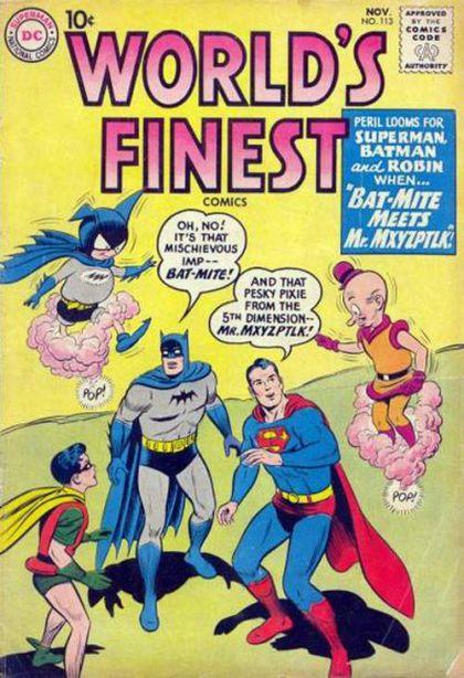 Mr. Mxyzptlk y Bat-Mite causando el doble de molestias