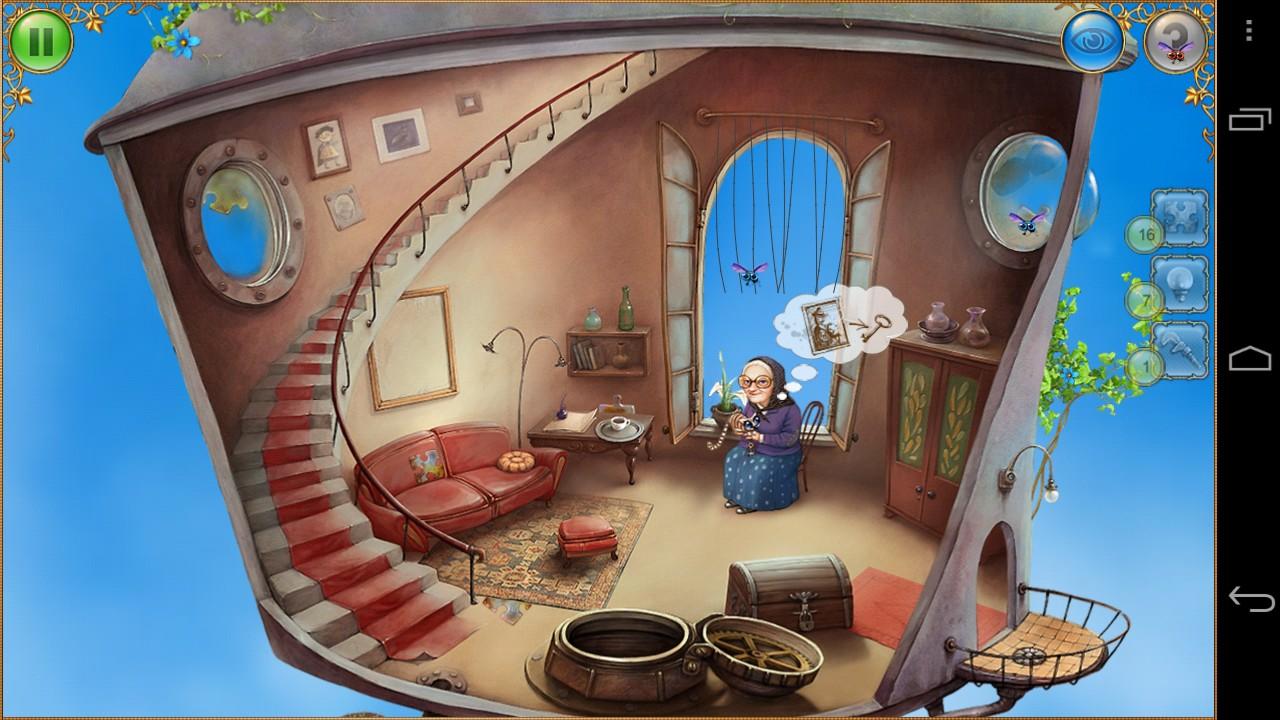 Los personajes, muy tranquilos, sólo interactúan contigo dándote alguna pista en forma de dibujo dentro de una burbuja de texto.