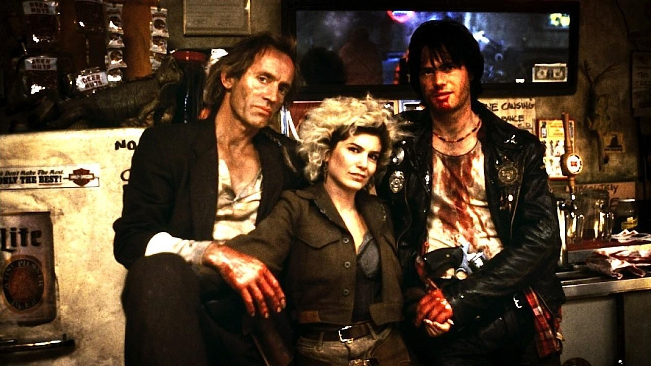 Jesse, Diamondback y Severen retratados en el escenario de una de las escenas más memorables del film