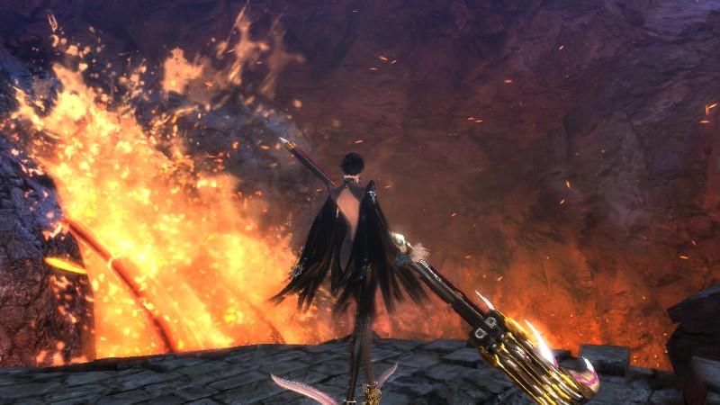 Platinum Games ha utilizado efectos visuales que confieren a los escenarios un aspecto así de preciosista