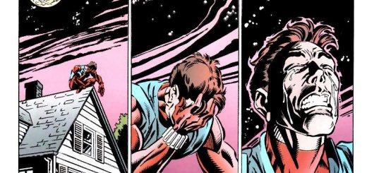 Ben Reilly llorando por la situación de la tía May
