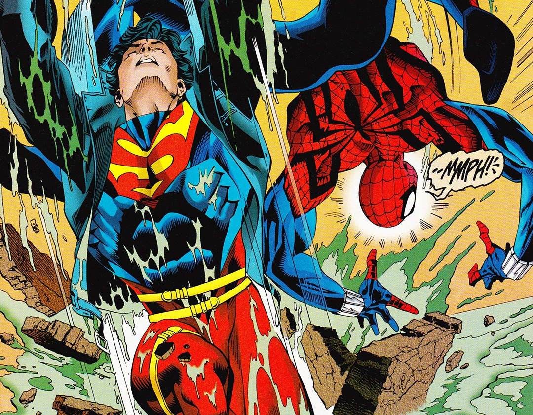 Nuevo Spider-man contra SuperBoy en Marvel VS DC
