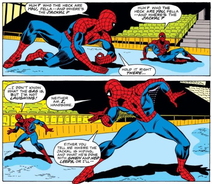 Spider-man contra su clon