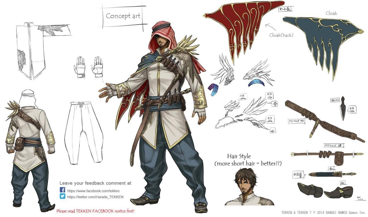 Diseño conceptual del personaje