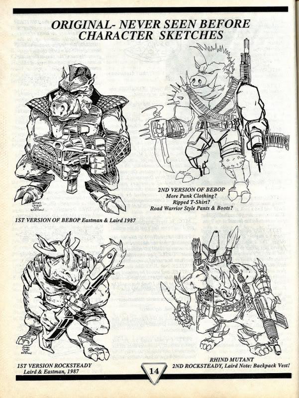 Diseños originales de los personajes