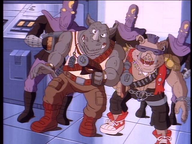 Rocksteady, Bebop y los soldados del Clan del Pie