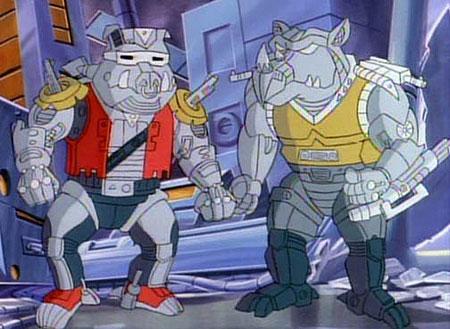 Versiones robóticas de los personajes