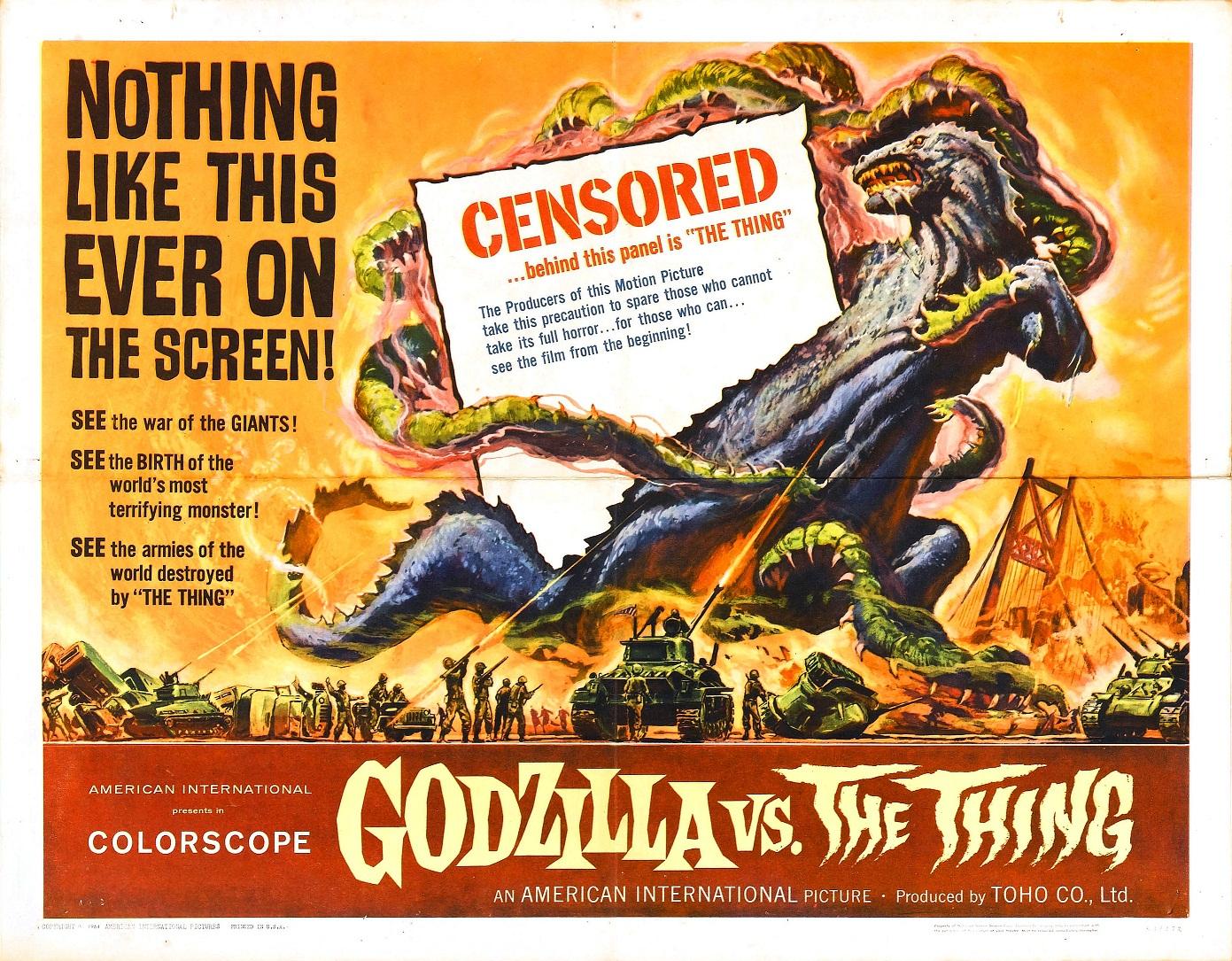Godzilla 04 vs mothra poster usa