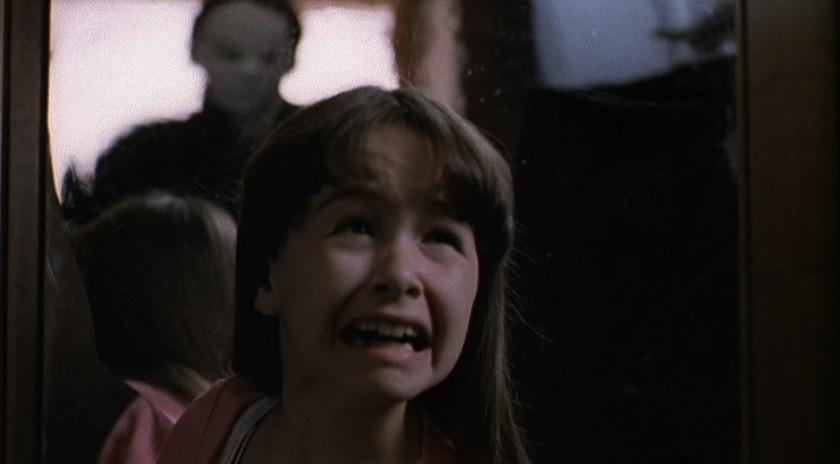 Jamie, la sobrina de Michael, claramente asustada