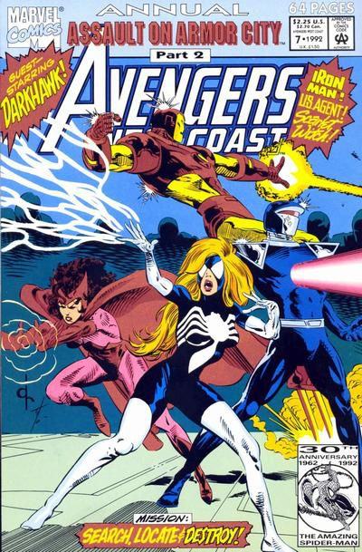Spider-Woman con los West Coast Avengers