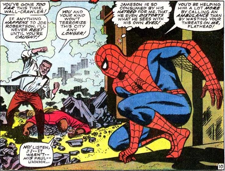 Para Jameson, la culpa siempre es de Spider-man