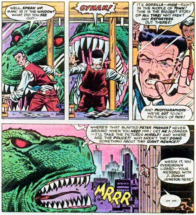 Jameson amenazando a Godzilla, increíble pero cierto