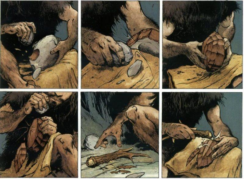 La primera aparición de Laghu coincide con esta magistral reproducción del proceso de talla.
