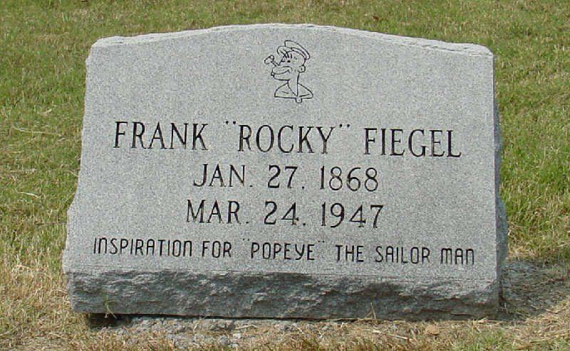 """La tumba de Frank """"Rocky"""" Fiegel"""