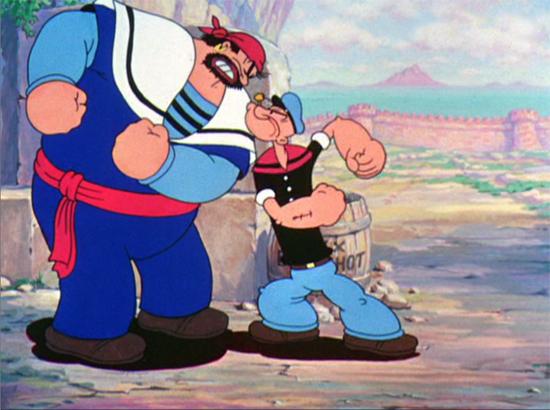 Brutus se convirtió en el enemigo recurrente de Popeye