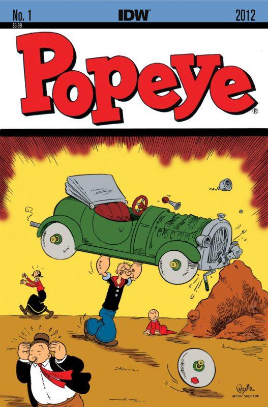Popeye en IDW homenajeando el primer número de Action Cómics.