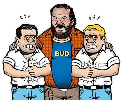 Ortega y Pacheco acompañados del gran Bud Spencer