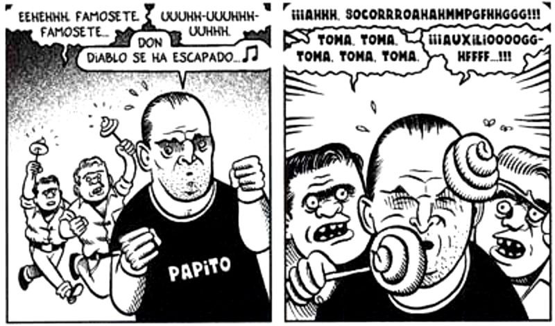Ortega y Pacheco atacando a Miguel Bosé