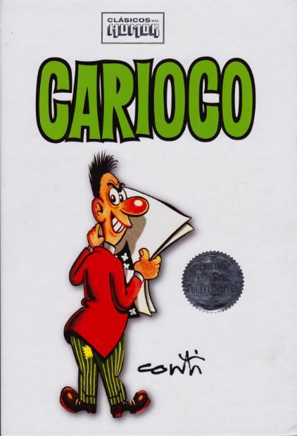 Ejemplar de Clásicos del Humor dedicado a Carioco.