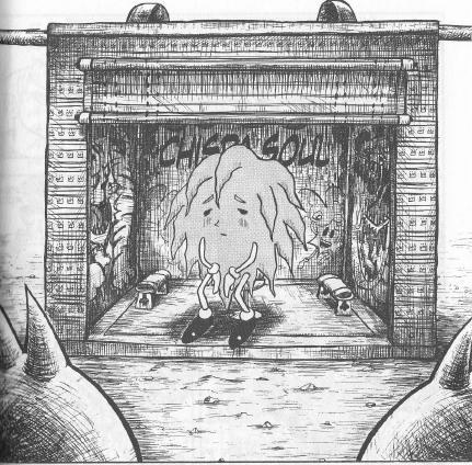 Aunque fue dibujado dos veces antes (una en la introducción y otra en la página anterior de ese capítulo), esta es la primera aprición oficial de Don Patch.