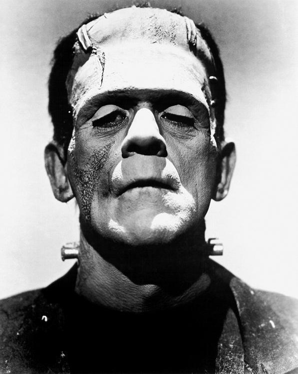 Karloff como monstruo de Frankenstein