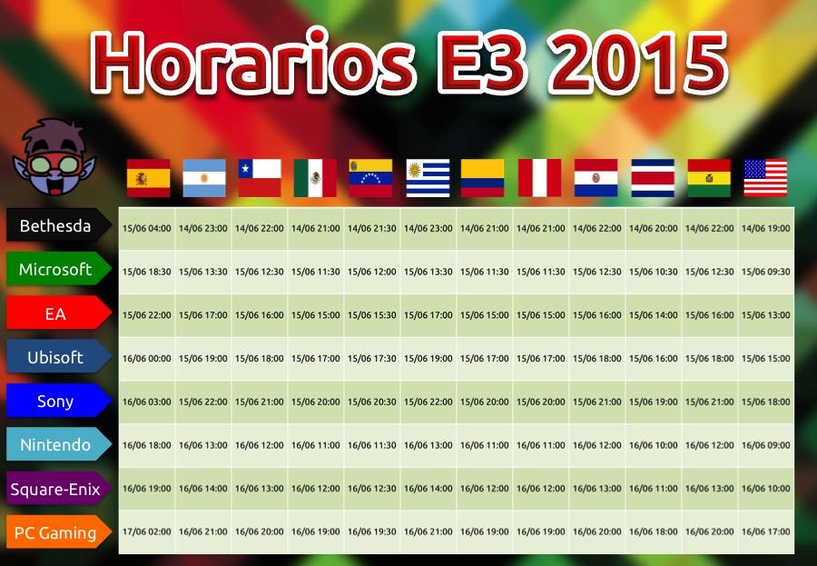 Horarios-E3-2015-ComboGamer