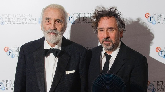 Christopher Lee y Tim Burton