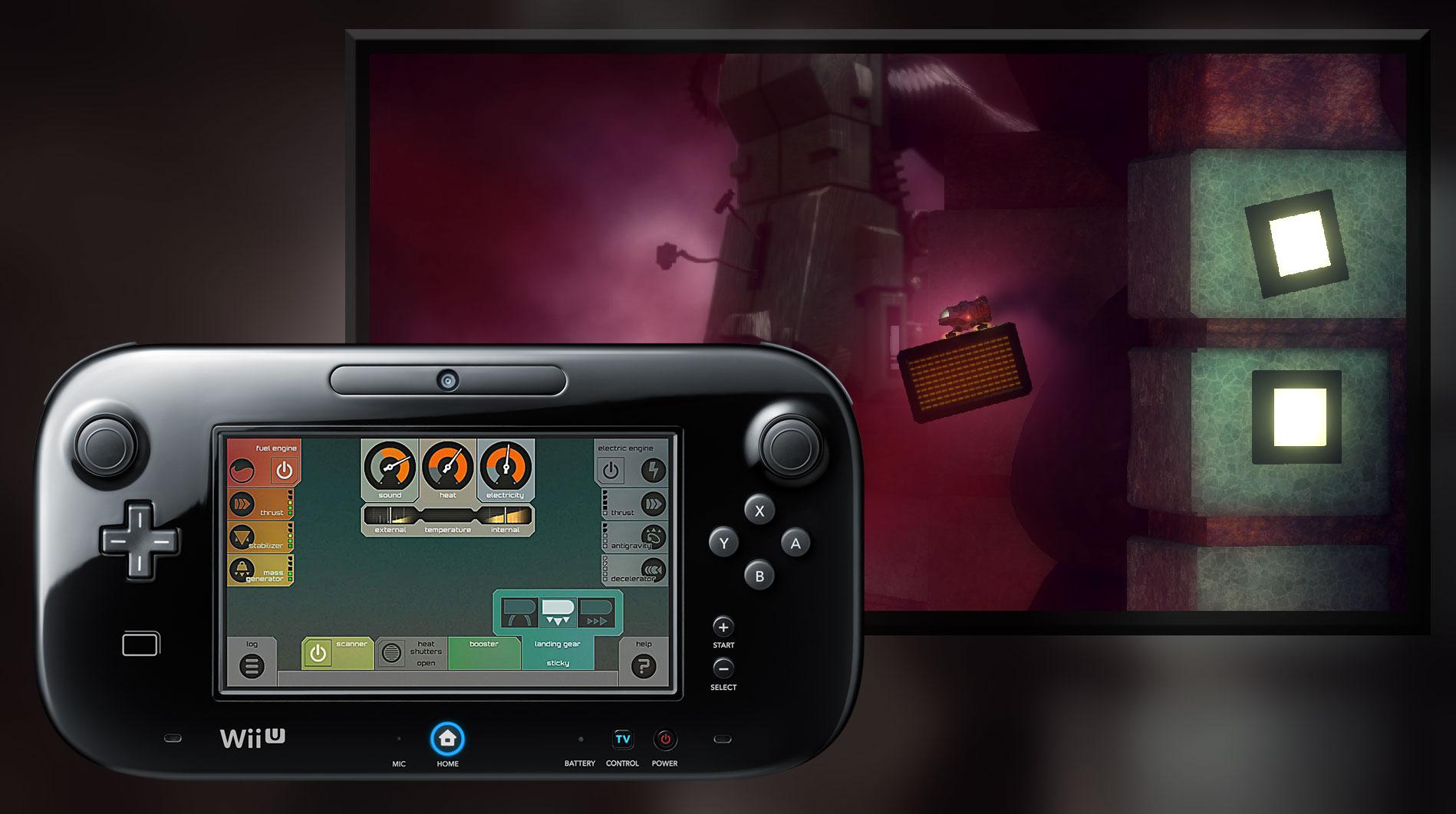 En el GamePad tendrás el panel de control de todos los sistemas disponibles de tu Small Craft
