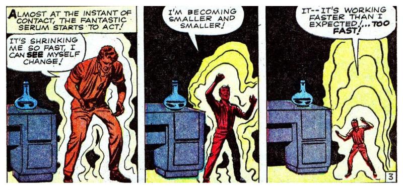 Pym encogiendo su tamaño