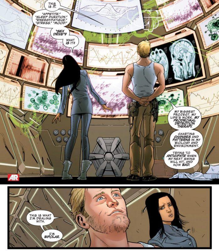 Hank Pym tratando de controlar su bipolaridad