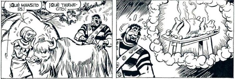 En el último tramo de la serie el personaje es tan expresivo que parece un tanto bobalicón.