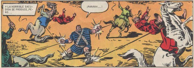 Ni cuatro caballos tirando en direcciones opuestas son capaces de acabar con Goliath.