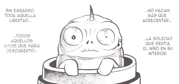 La soledad perseguirá al niño gusano