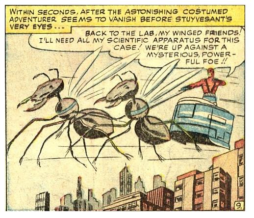 Ant-Man en su carro de hormigas