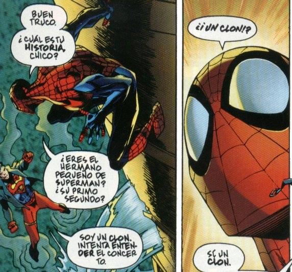 Spider-man y Superboy, duelo de clones