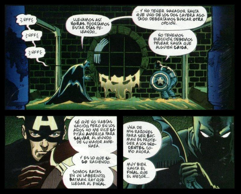 Batman y el Capitán América, un combate muy igualado