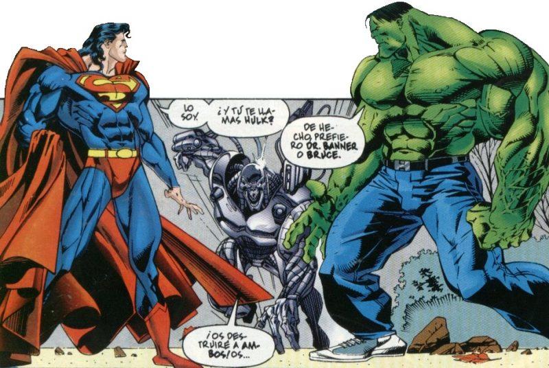 Superman con pelo largo, Hulk inteligente y con zapatillas deportivas... ains los 90