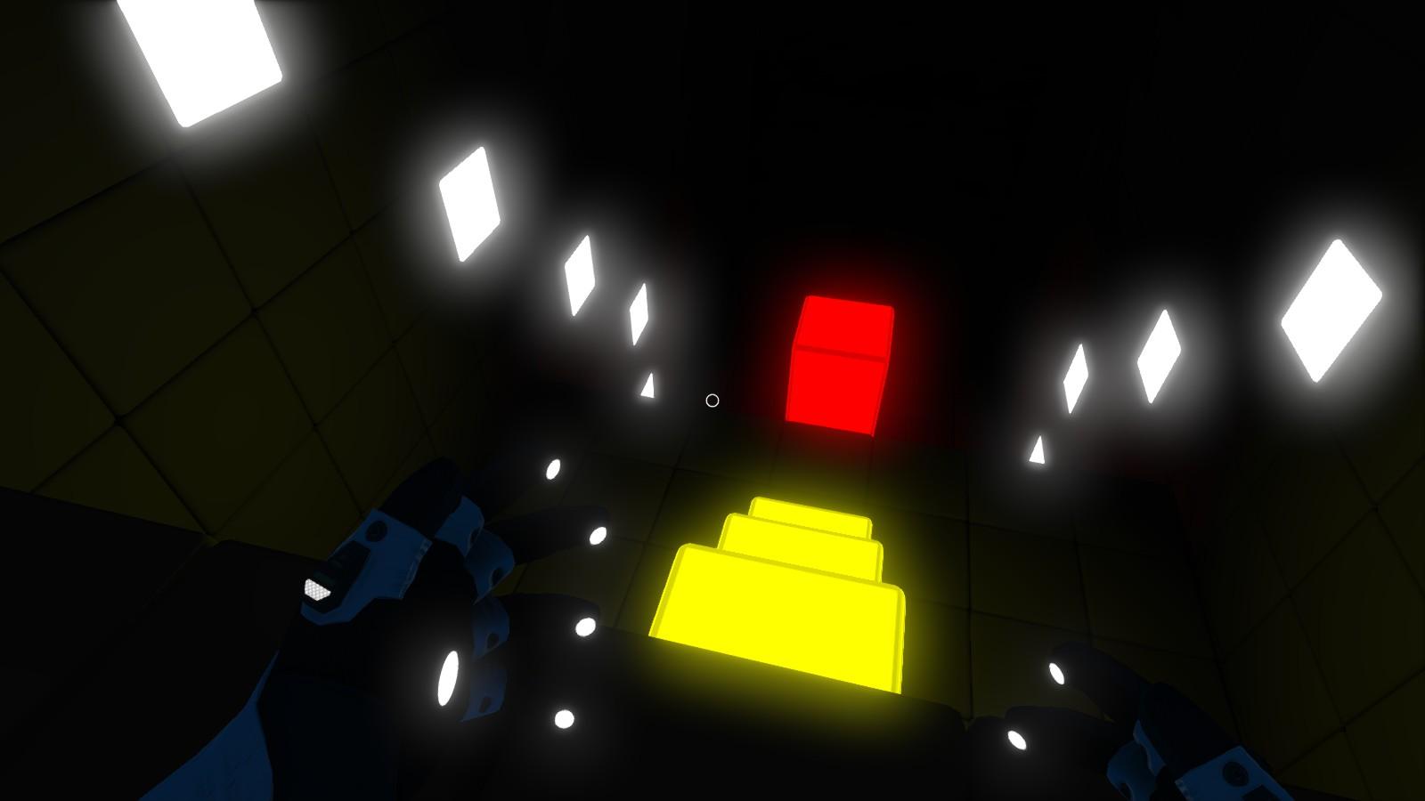 Sin luz ambiental podremos guiarnos gracias a la luz de algunos bloques